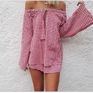 Sabo skirt checkered set